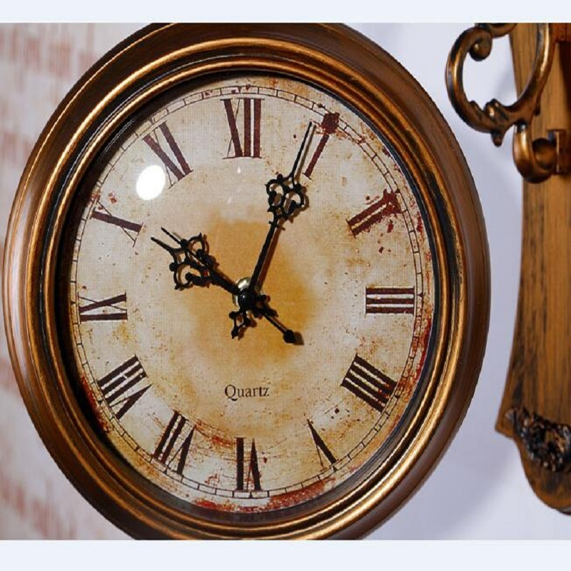Wall Clock Modern Design Double-sided Wall Clock 3D ...