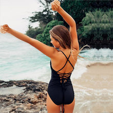 Liva Girl Strap Cut Out Sexy Bodysuit Women Rompers One Piece Backless Body Suit 2018 Summer Jumpsuit Casual Playsuit Femme(China)