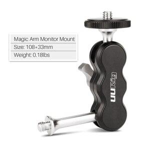 Image 2 - UURig montaje de Monitor de brazo mágico de aluminio R002 tornillo de 1/4 pulgadas articulado Universal para monitores de campo, luces LED de vídeo, micrófonos