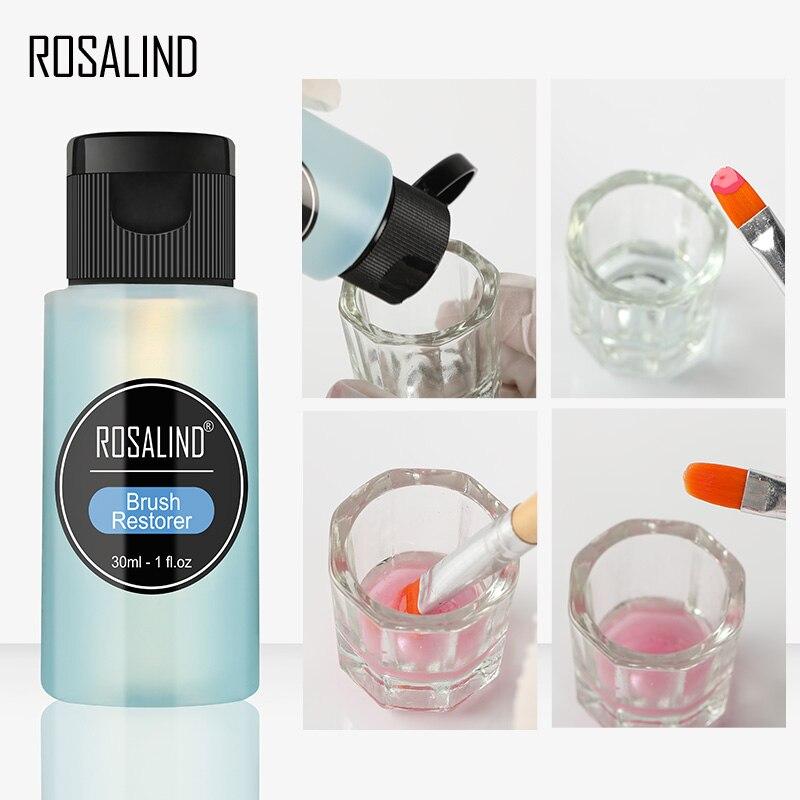 Rosalind 30ml escovas de limpeza de água 1 pcs prego gel removedor escova da arte do prego unha manicure acrílico lavagem caneta ferramenta