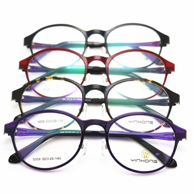 Corea titanium montura de gafas de plástico de alta archivos de tungsteno luz marco de acero gafas de plástico chica estudiante masculino tendencia de la moda
