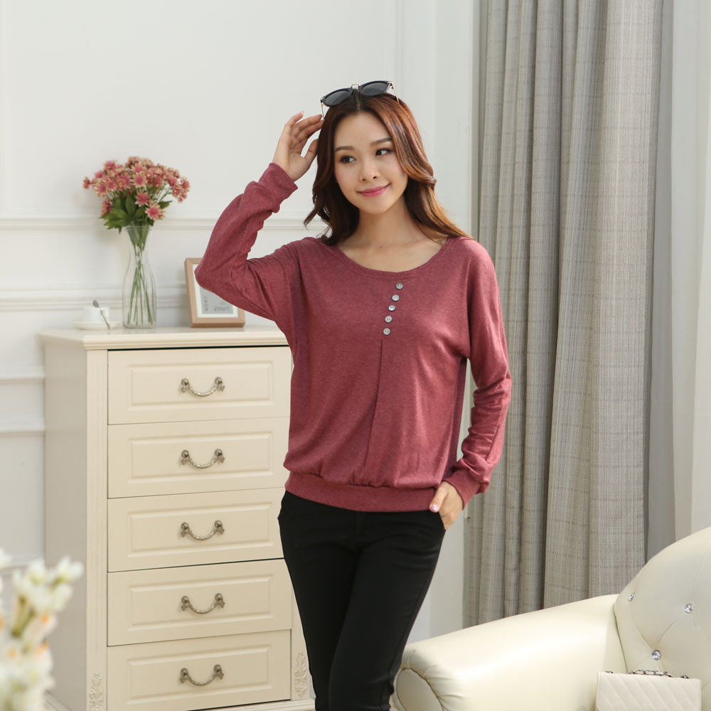 HTB1DJ.DJpXXXXXUXFXXq6xXFXXXB - Tee fashion O-neck tshirt women casual loose bat sleeve cotton T-shirt