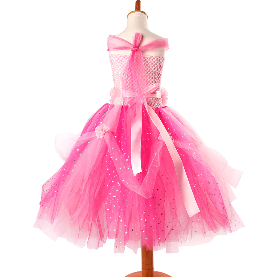 Beautiful Princess Tutu Gown for Weddings Birthday Dress Baby Girl Flower Tutu Dress Glittery Children Fancy Party Christmas Costumes (7)