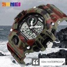 SKMEI Men Dual Display Wristwatches 50M Waterproof Outdoor Sport watch