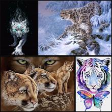 Animal full Diamond Embroidery 5D DIY Diamond Painting Christmas Tigers And Giraffes Cross Stitch Full Rhinestone Mosaic