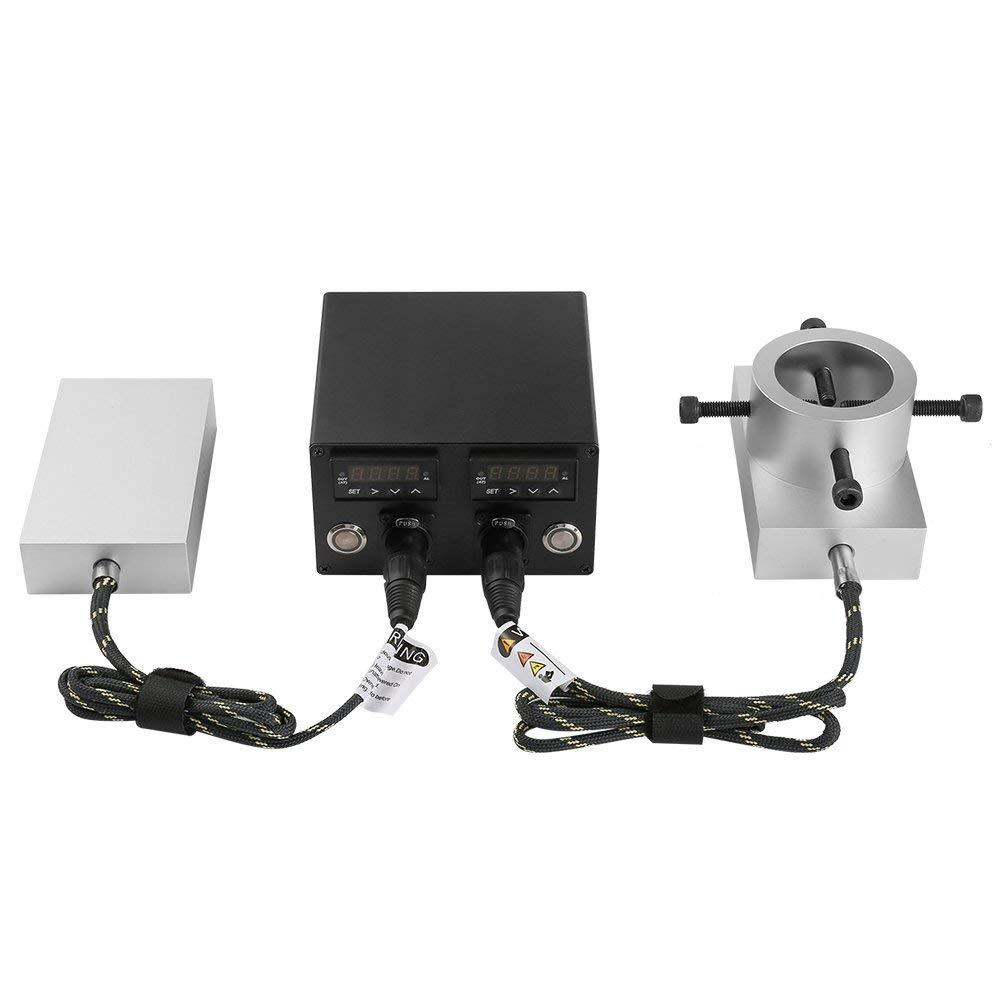 Plates Heavy Duty Double PID Controller Rosin Press 3 5 Heating Aluminium Plate Kit 6061 Temperature