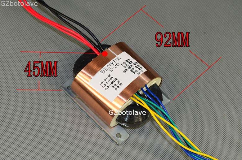 Livraison gratuite YS R30 R transformateur 40 W 180V-0-180V 0-6.3 0-6.3 ligne (alimentation de préampli à tube électronique)