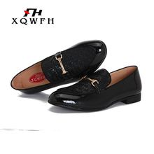 New Style Men Casual Shoes With Custom Personality Party And Wedding Leather Loafers