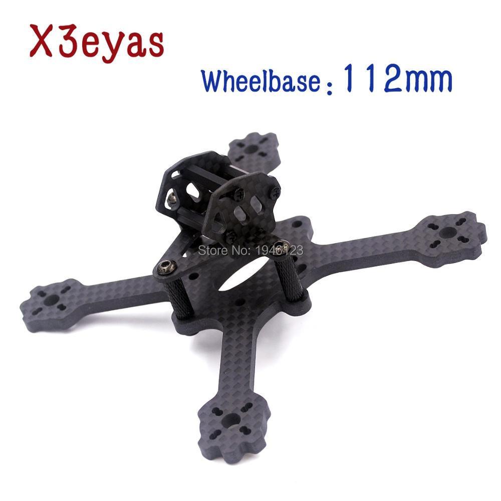 X3 EYAS Carbonrahmen Radstand 112mm Arbeit mit 1306 Motor 3045 Requisiten F3 Fliegen Turm Indoor MINI 5,8G FPV Racing Drone