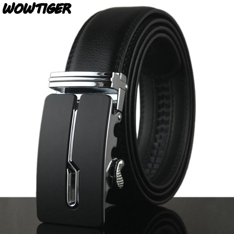 Wowtiger cinturones de moda correa de los hombres del cuero del zurriago  oro plata 110 cm-130 cm bellt para los hombres envío libre d7b70ae4d9d