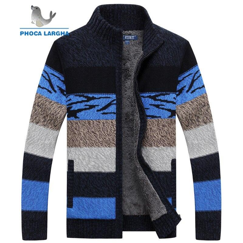 Chandails tricotés pour hommes Cardigans hiver pull en laine homme slim fit zipper chandails manteau pour hommes top qualité marque vêtements pour hommes