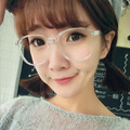 Ретро Декоративные Зеркала Большие Очки Оправы для очков Очки Рамки для женщин Леди Обычный степень Оптический очковая оправа