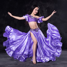 New design Nice Oriental belly Dancing Costumes Outfits for kids/child/girls Sexy bellydance Set Dresses Suits  S/M/L 5 colors