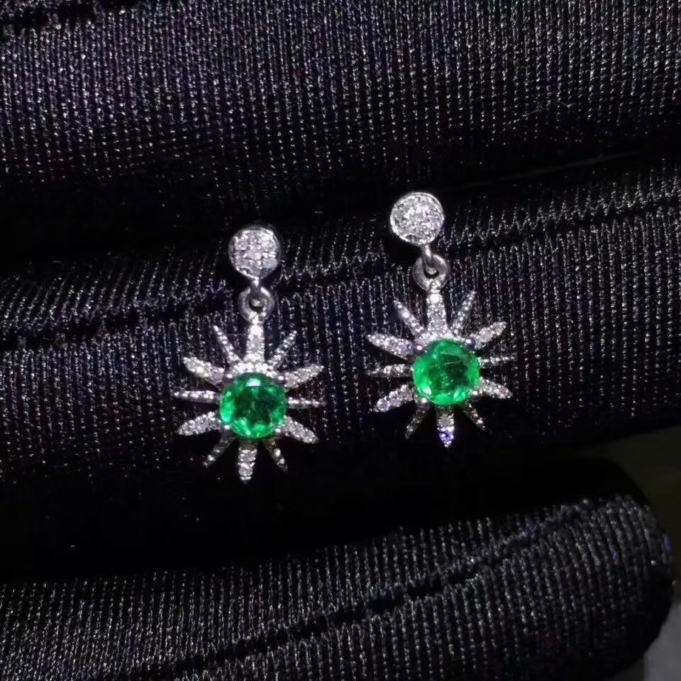 SHILOVEM 925 sterling silver Natural Emerald classic fine Jewelry Customizable women wedding women wholesale new jce3.53.501agml shilovem 925 sterling silver emerald stud earrings classic fine jewelry women wedding women gift wholesale jce040601agml
