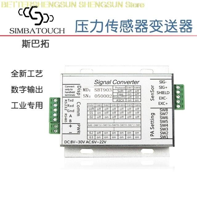 SBT903 pressure sensor transmitter RS232 485 communication serial port  connection PLC upper computer