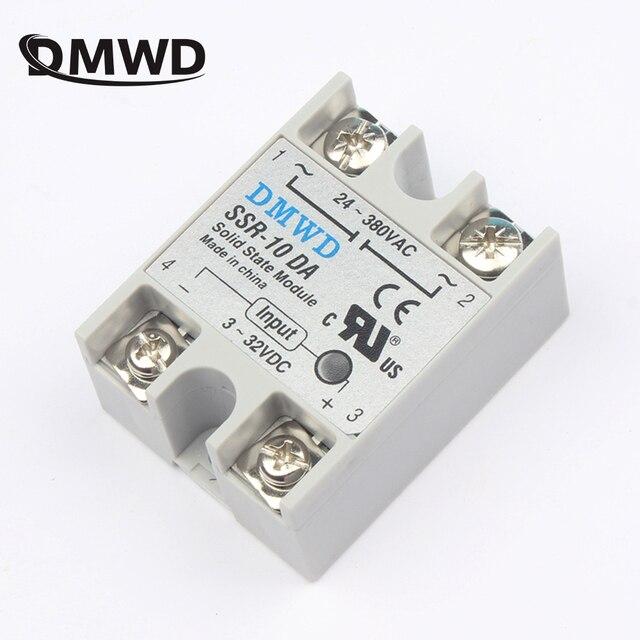 solid state relay SSR-10DA SSR-25DA SSR-40DA 10A 25A 40A actually 3-32V DC TO 24-380V AC SSR 10DA 25DA 40DA top brand DMWD new