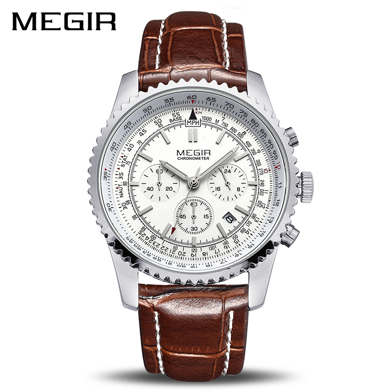 MEGIR Watch Men Fashion Luminous Quartz Men Watch Top Brand Luxury Watches Clock Men Relogio Masculino Erkek Kol Saati Man 2009 цена