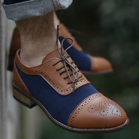 2019 Luxury Brand Oxford Shoes Men British Style Carved Genuine Leather Shoe Lace Up Brown Brogue Shoes Zapatos Hombre BRM 104 9