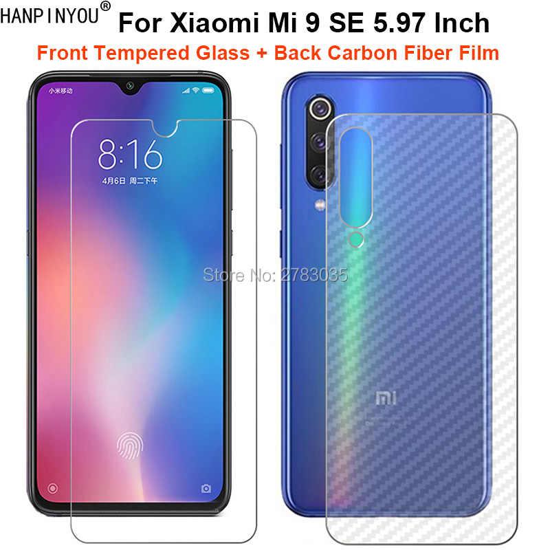 """Для Xiaomi mi 9 mi 9 M9 6,39 """"2 предмета = мягкая задняя пленка из углеродного волокна + ультратонкая класса премиум закаленное Стекло спереди Экран протектор"""