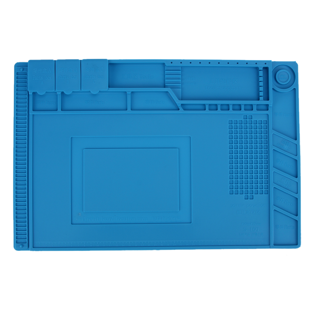 45*30 cm Anti Static Heat Insulation Silicone Pad Magnetic Section Insulation Pad Repair Tools Maintenance Platform Desk Mat unique disk style silicone heat insulation cup pads blue black 2 pcs