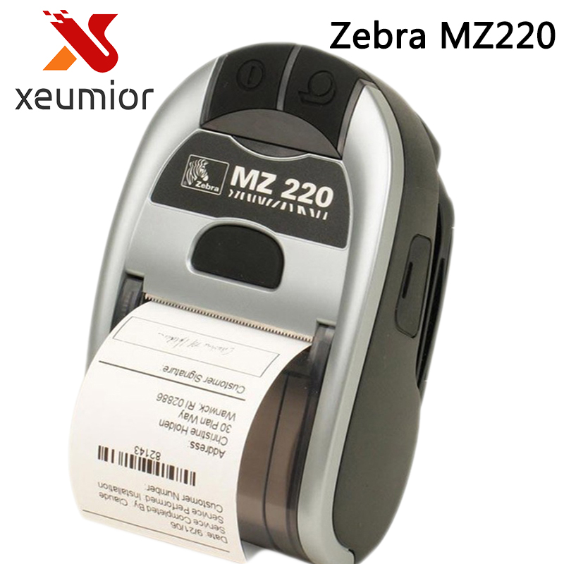 Original New For Zebra MZ 220 Mobile Thermal Label Printer Mini portable Bluetooth Label Printer Stock Clearance Price seebz 2set original printer for zebra mz220 wireless bluetooth mobile thermal printer for 50mm ticket or label portable printer
