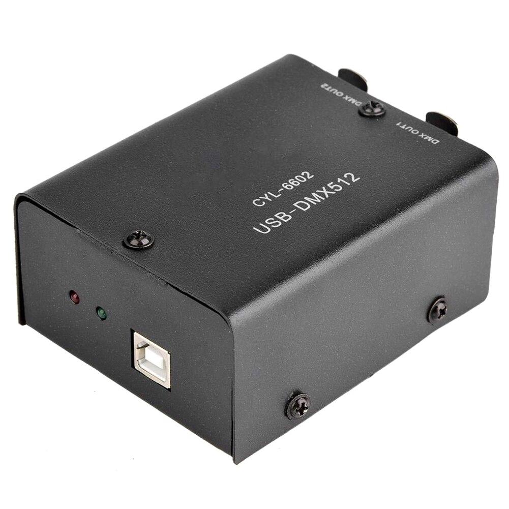 Contrôleur d'éclairage de scène convertisseur Daslight lumière LED décodeur ordinateur 512 canaux noir USB à DMX512 CD Mini Module