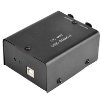 Stage Lighting Controller Converter Daslight LED Light Decoder Computer 512 Channel Black USB To DMX512 CD Mini Module