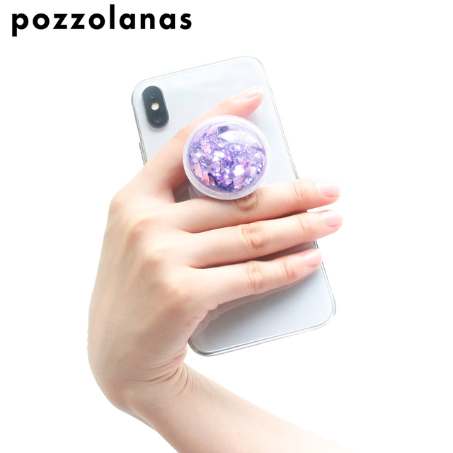 Pozzolanas Liquid Dynamic Star Quicksand phone holder Extending stand Glitter Universal For iphone For Samsung ForHUAWEI For car