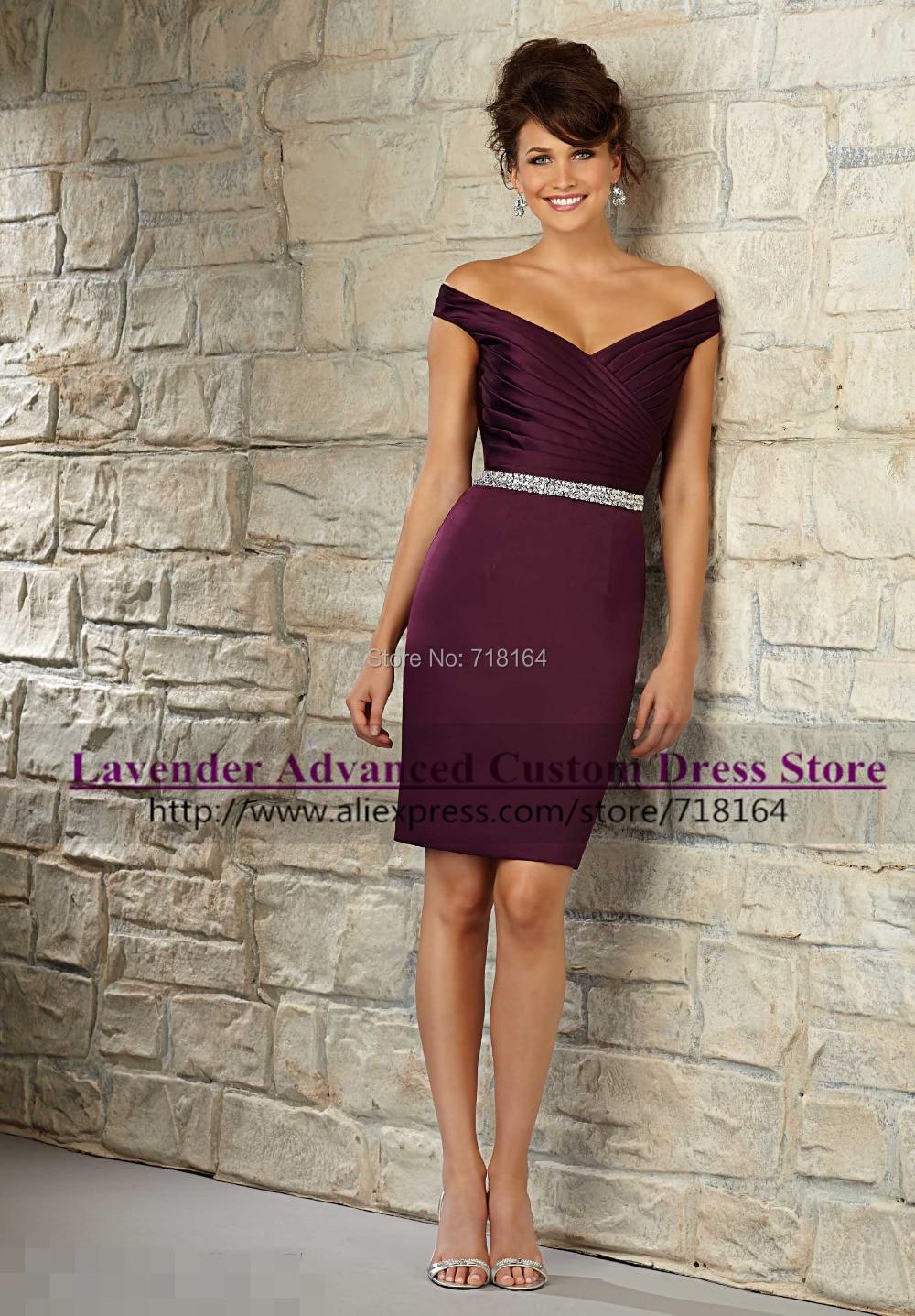 Modest lavender purple sheath sexy font b bridesmaid b font font b dress b font 2017