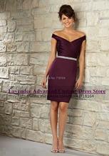 Modest lavender purple sheath sexy bridesmaid dress 2017 new vestido madrinha de casamento dress for party over vestido de festa