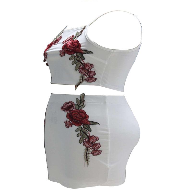 HTB1DJ1FQpXXXXX.XVXXq6xXFXXXy - FREE SHIPPING Sexy Beach Dress Embroidered Flower Sling Two Piece Set JKP376