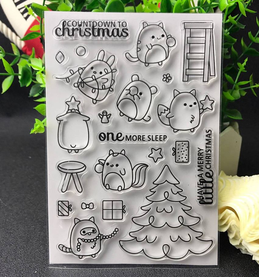 Happy merry Christmas Transparent Clear Silicone Stamp/Seal for DIY scrapbooking/photo album Decorative clear stamp E219 about loving heart design transparent clear silicone stamp for diy scrapbooking photo album clear stamp christmas gift ll 278