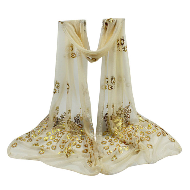Women Chiffon Silk Scarves...