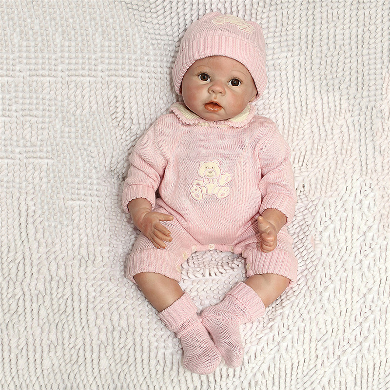 NPK 22 Inch 55 cm Soft Silicone Newborn Baby Reborn Doll Babies Dolls Lifelike Real Bebe Doll for Children Birthday Xmas Gift 22 inch 55 cm silicone baby reborn dolls lifelike doll newborn toy girl gift for children birthday xmas