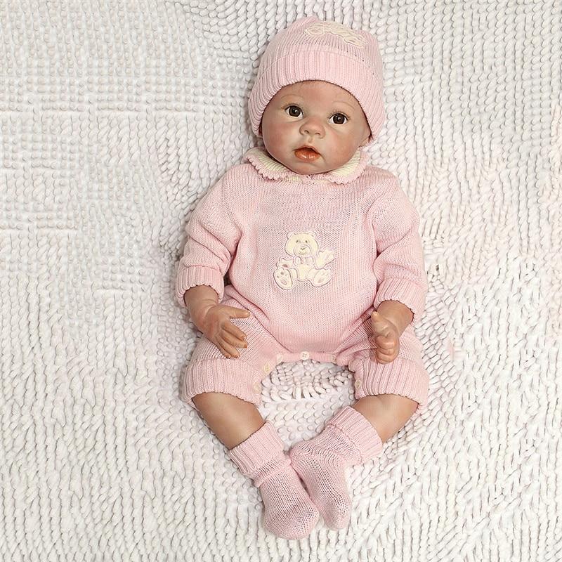 NPK 22 pulgadas 55 cm silicona suave bebé recién nacido Reborn muñeca bebés muñecas Real bebé para niños cumpleaños regalo de Navidad-in Muñecas from Juguetes y pasatiempos    1