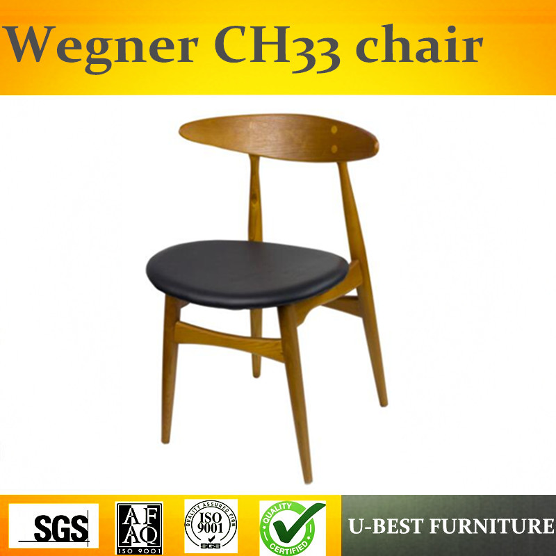 Free shipping U-BEST Classic Modern Home Furniture Wooden Dining chair with pu cushion
