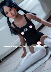 Image 3 - 140cm Lifelike Real Asia Sex Doll Full Size with skeleton Silicone small breast Love Doll Oral Vagina Pussy Anal adult sexy doll