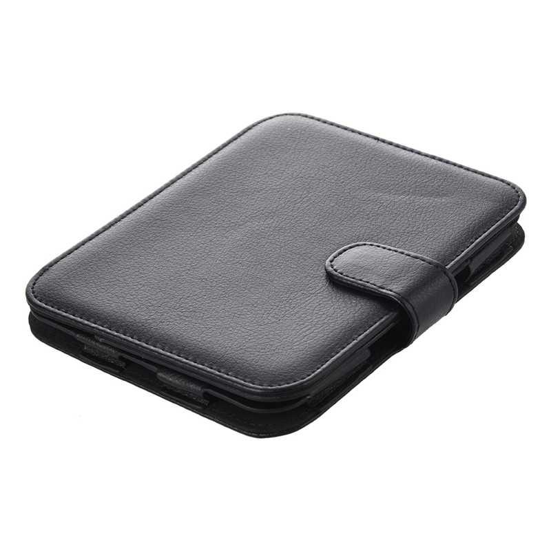 Leather Case voor Barnes And Noble Nook Eenvoudige Touch met GlowLight, Zwart