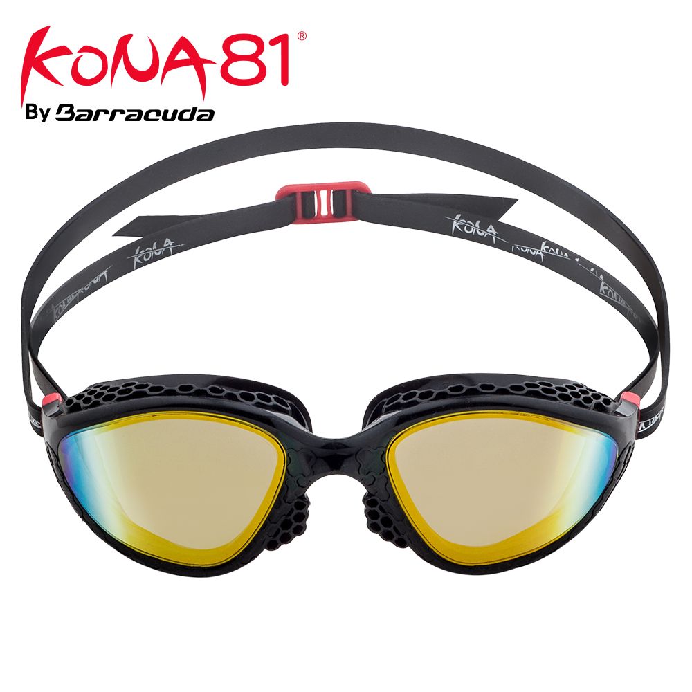 Barracuda KONA81 Swimming Goggles K945 Mirror Lenses Honeycomb structured Frame Seals Triathlon UV Protection for Adults