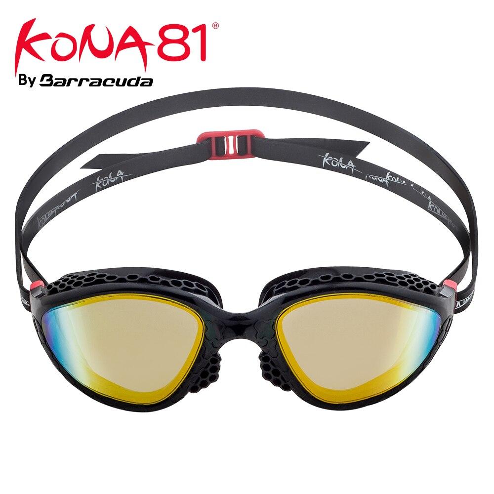 Barracuda KONA81 lunettes de natation lentilles de K945-Mirror cadre structuré en nid d'abeille/joints Triathlon Protection UV pour adultes #94510
