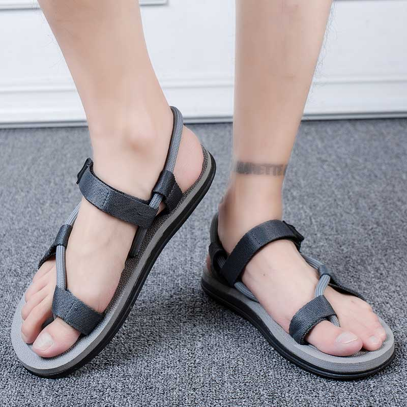 ARUONET Light Weight Casual Men Sandals Cool Street Slippers Summer Flip Flops Comfort Non Slip Man Beach Shoes Zapato Hombre