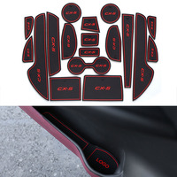 18Pcs Set Car Styling Slot Pad Interior Door Groove Mat Latex Anti Slip Cushion For Mazda