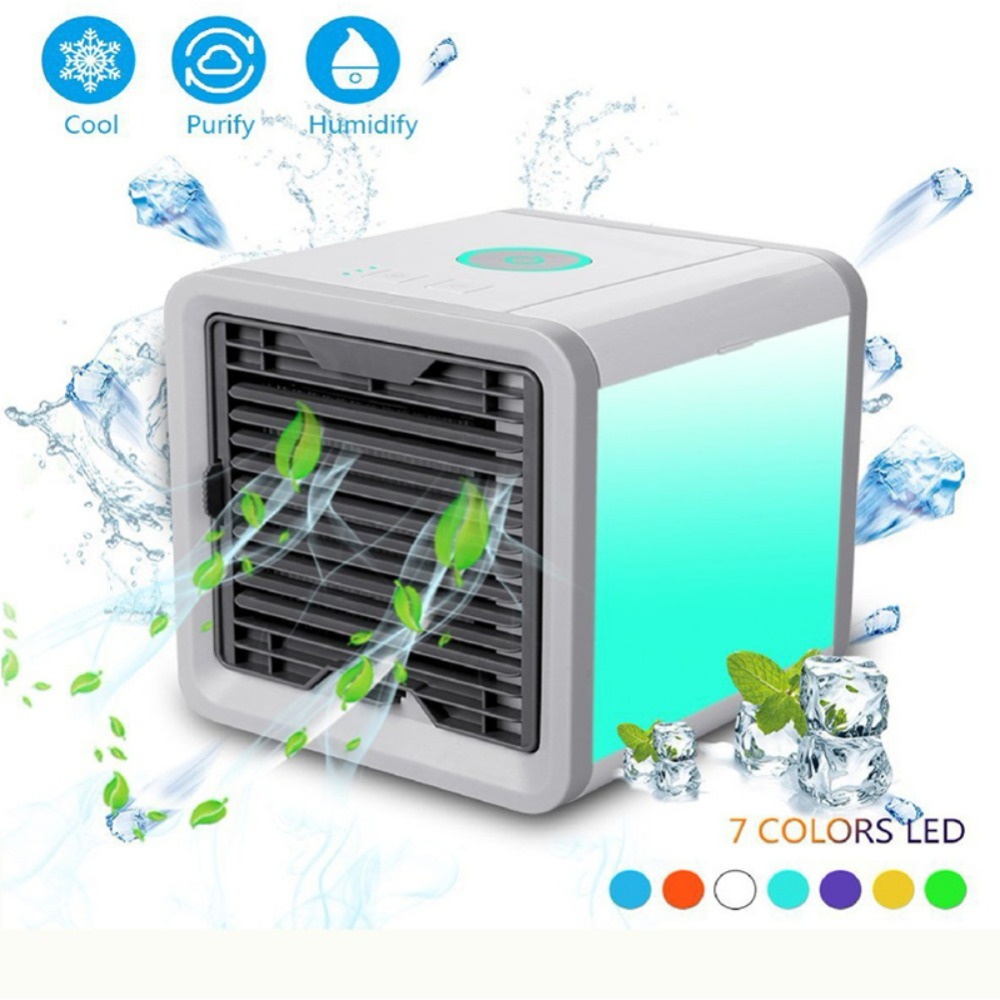 3 in 1 Air Purifier Humidifier Personal Space Evaporative Arctic Air Cooler Portable Air Conditioner for Office and Bedroom 2018