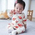 2016 NUEVA Hot Baby Boy Ropa de Algodón sandía Mono lindo de Los Mamelucos del Bebé Ropa de Bebé