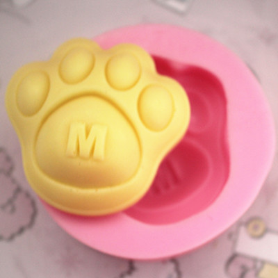 Cat claw Paw prints shape silicone soap mold clay mold decoration tools baking ware