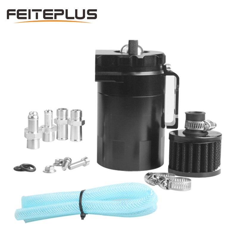 Universel 300 ml en aluminium voiture camion moteur bouchon d'huile peut réservoir double cylindre polonais déflecteur réservoir avec filtre à Air tuyau pince