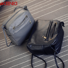 KEENICI Korea Small Mini Bag Pu Soft Leather Shoulder Bag Messenger Bag Female Summer Retro Bags Mujer Mochila Escolar Feminina