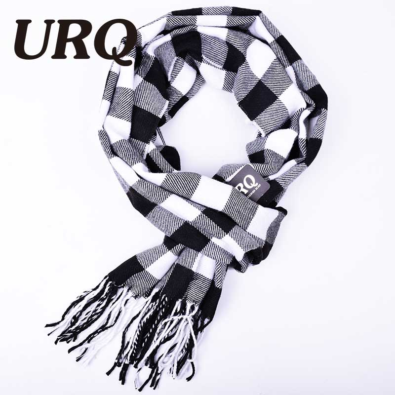 2016 winter New Mens Warm Soft Cashmere wool plaid font b tartan b font scarf checked