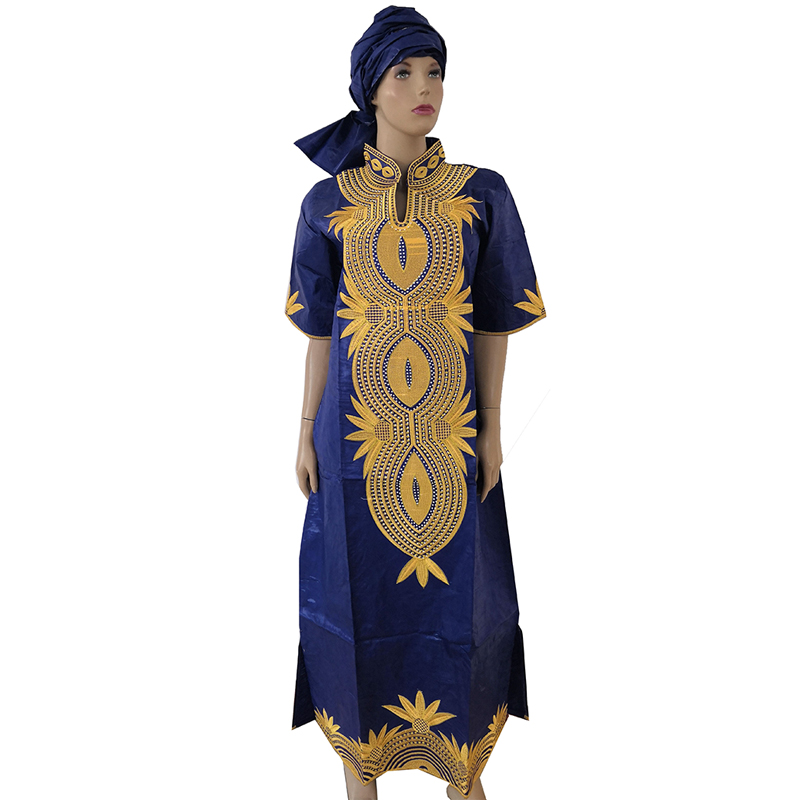 MD Dashiki African Dresses For Women Bazin Riche Long Dress Two Pieces One Set Traditional African Fashion Plus Size Clothing