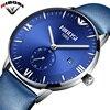 2018 NIBOSI Simple Watches Men Top Luxury Brand Fashion Saat Genuine Leather Strap Men Wrist Watch
